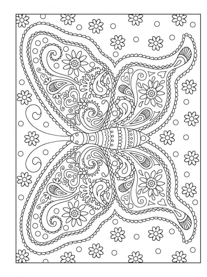 Coloriage et dessins gratuits Relaxant Papillon magique à imprimer