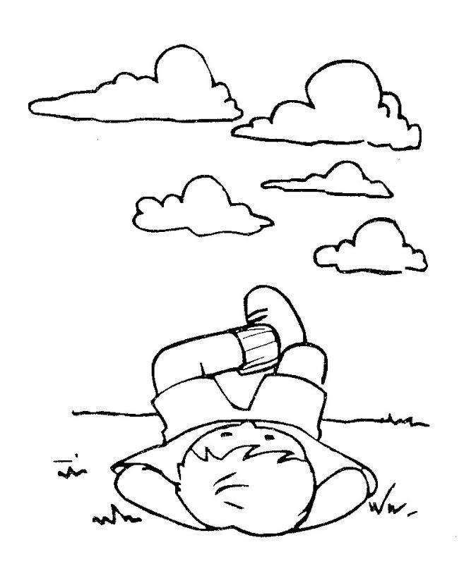Coloriage et dessins gratuits Relaxation dans Le Ciel à imprimer