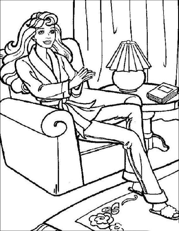 Coloriage et dessins gratuits Relaxation dans Le Salon à imprimer