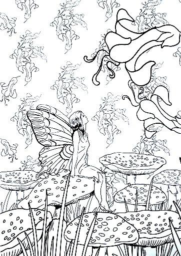 Coloriage et dessins gratuits Relaxation pour Fille à imprimer