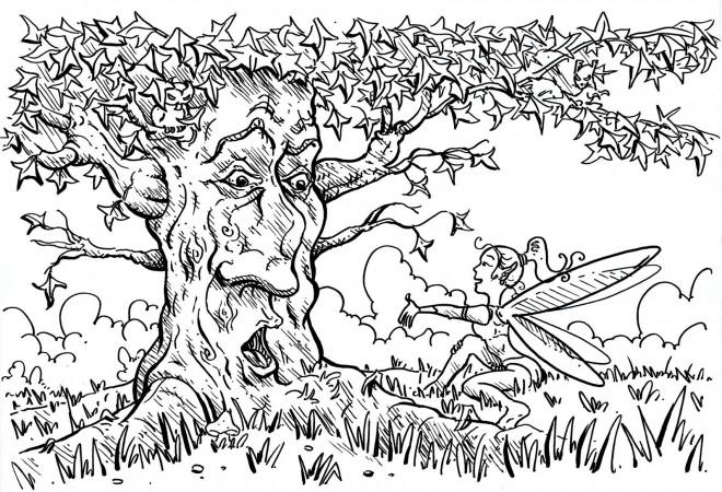 Coloriage et dessins gratuits Vieille Arbre à imprimer