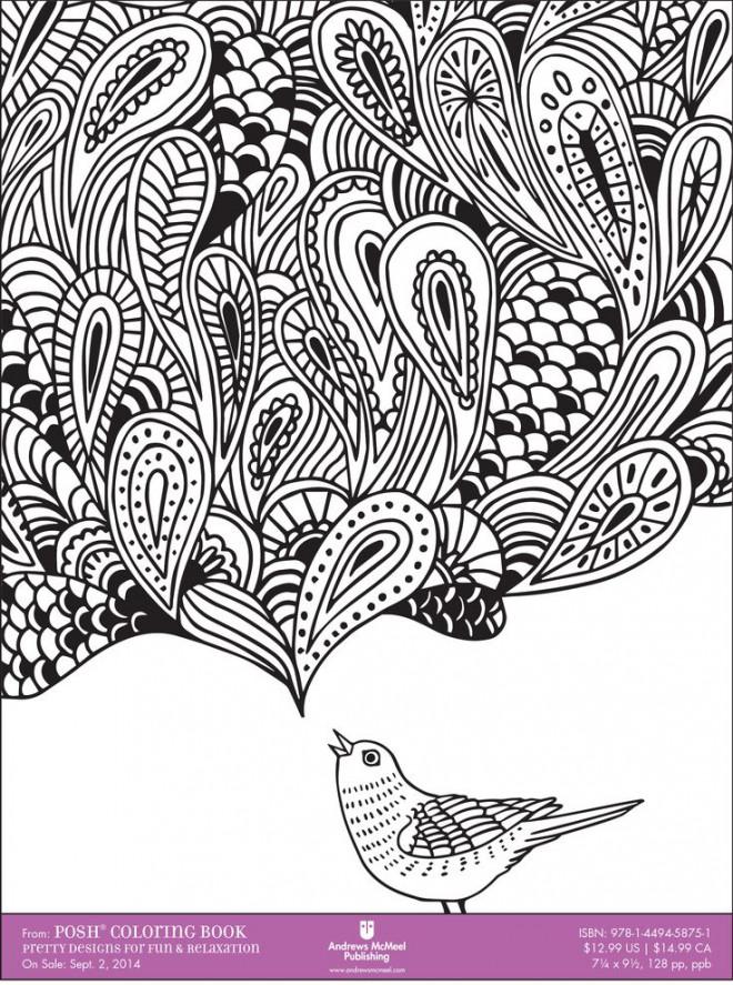 Coloriage et dessins gratuits Zen Relaxant en noir à imprimer