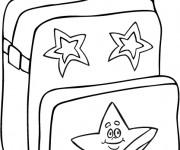 Coloriage et dessins gratuit Cartable pour La Rentrée scolaire à imprimer
