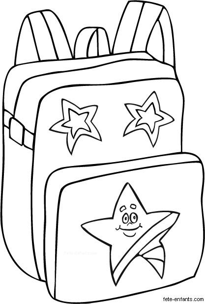 Coloriage et dessins gratuits Cartable pour La Rentrée scolaire à imprimer