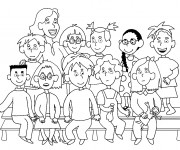 Coloriage dessin  Ecole 53