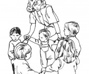 Coloriage dessin  Ecole Maternelle 22