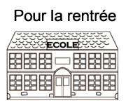 Coloriage et dessins gratuit École Pour La Rentrée à imprimer