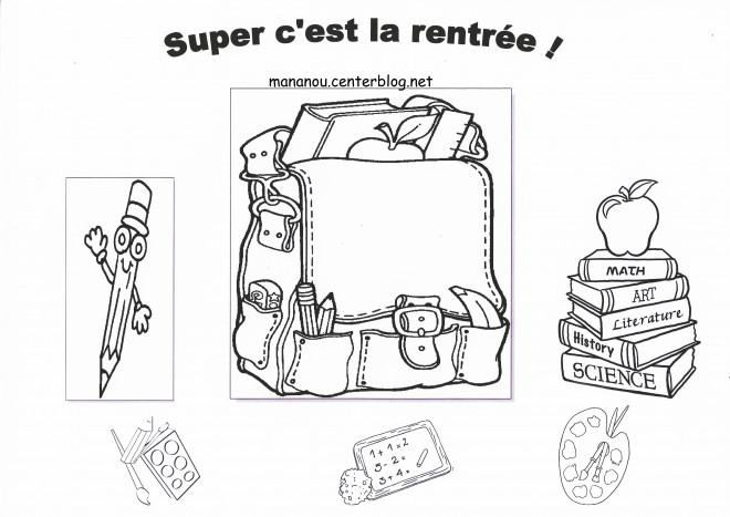 Coloriage et dessins gratuits La Joie de La Rentrée scolaire à imprimer