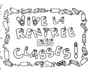 Coloriage et dessins gratuit La Rentrée des Classes à imprimer
