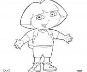 Coloriage et dessins gratuit La Rentrée maternelle Dora à imprimer