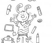 Coloriage et dessins gratuit La Rentrée Scolaire en Septembre à imprimer