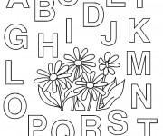 Coloriage et dessins gratuit Les Lettres de L'alphabet à colorier à imprimer