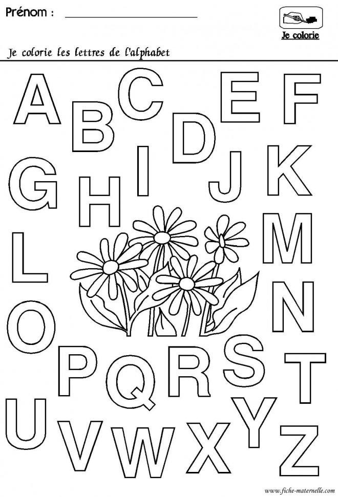 Coloriage Les Lettres De Lalphabet à Colorier