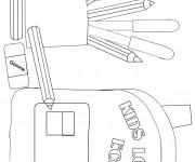 Coloriage et dessins gratuit Matériel Scolaire à découper à imprimer