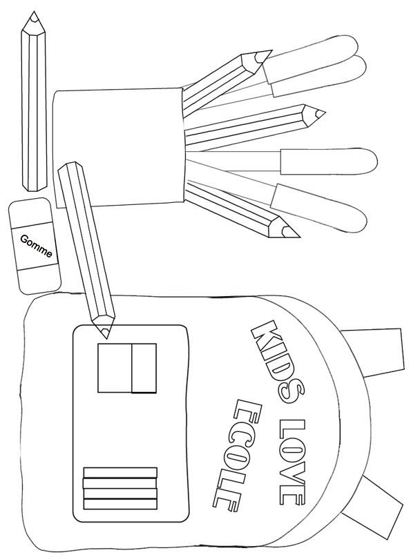 Coloriage et dessins gratuits Matériel Scolaire à découper à imprimer