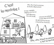 Coloriage Poème pour La Rentrée scolaire