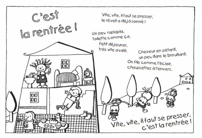 Coloriage et dessins gratuits Poème pour La Rentrée scolaire à imprimer