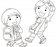 Coloriage et dessins gratuit Rentrée Maternelle 1 à imprimer