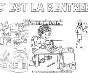 Coloriage et dessins gratuit Rentrée Maternelle 11 à imprimer