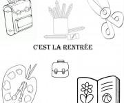 Coloriage et dessins gratuit Rentrée Maternelle 12 à imprimer