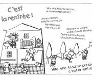Coloriage et dessins gratuit Rentrée Maternelle 13 à imprimer