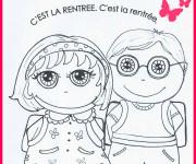 Coloriage et dessins gratuit Rentrée Maternelle 17 à imprimer