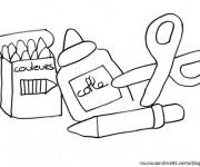 Coloriage et dessins gratuit Rentrée Maternelle 18 à imprimer