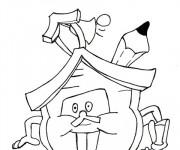 Coloriage et dessins gratuit Rentrée Maternelle 34 à imprimer