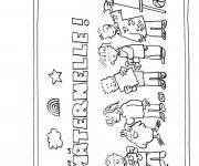 Coloriage et dessins gratuit Rentrée Maternelle 44 à imprimer