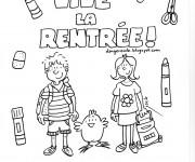 Coloriage et dessins gratuit Rentrée maternelle en couleur à imprimer