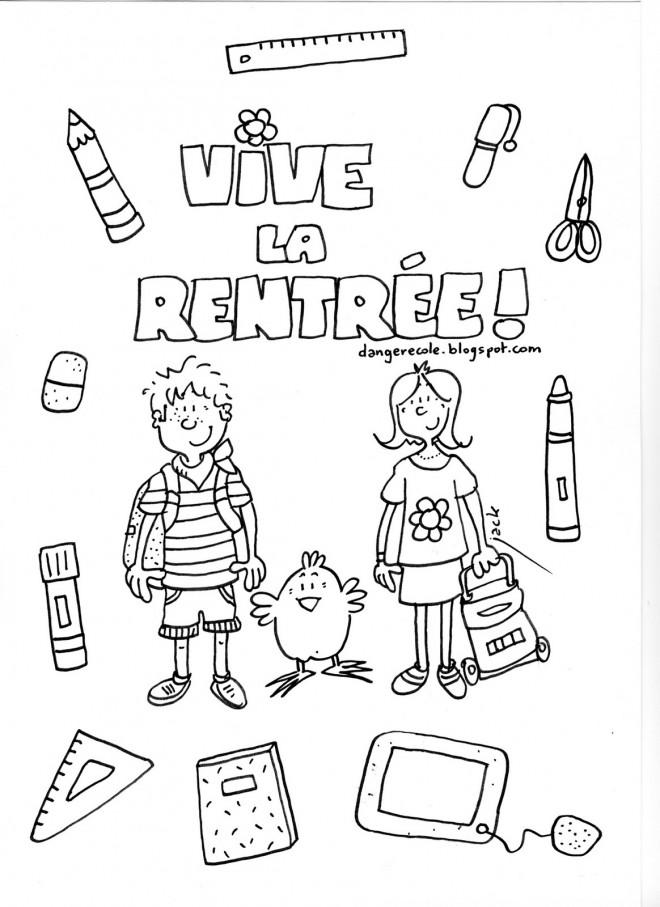 Coloriage et dessins gratuits Rentrée maternelle en couleur à imprimer