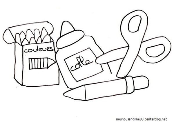 Coloriage et dessins gratuits Rentrée maternelle facile à imprimer