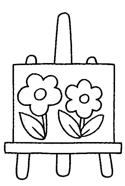Coloriage et dessins gratuits Séance de Dessin à L'école à imprimer