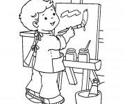Coloriage et dessins gratuit Séance de dessin Maternelle à imprimer