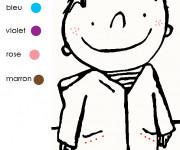 Coloriage Un élève à colorier