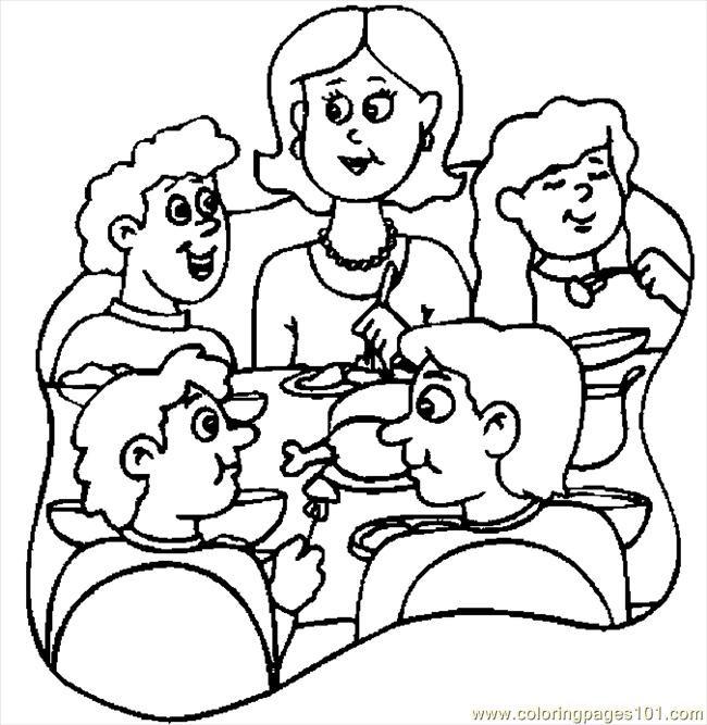 Coloriage et dessins gratuits Famille et Repas à imprimer