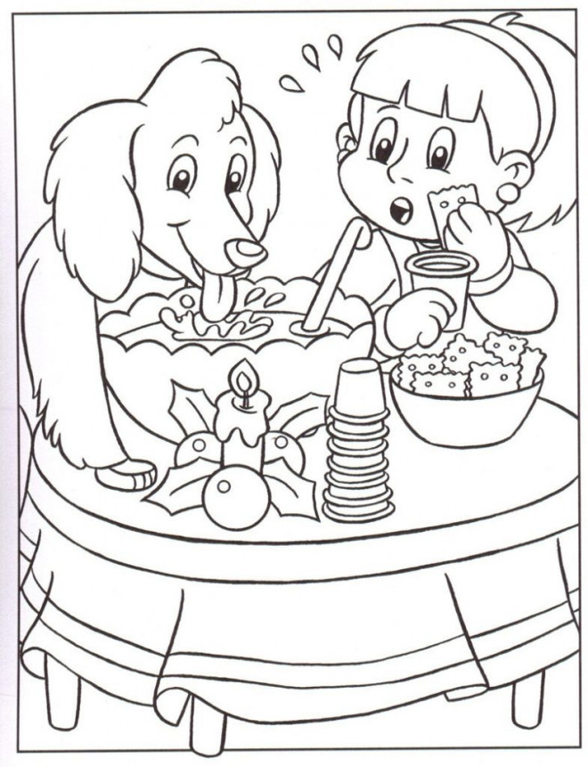 Coloriage et dessins gratuits Le Chien qui n'est pas Invité à L'anniversaire à imprimer