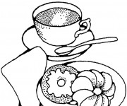 Coloriage et dessins gratuit Le Petit Déjeuner à imprimer