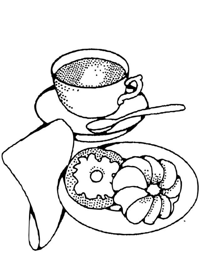 Coloriage et dessins gratuits Le Petit Déjeuner à imprimer