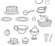 Coloriage et dessins gratuit Repas à colorier à imprimer