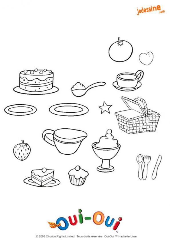 Coloriage et dessins gratuits Repas à colorier à imprimer