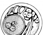 Coloriage et dessins gratuit Repas complémentaires à imprimer