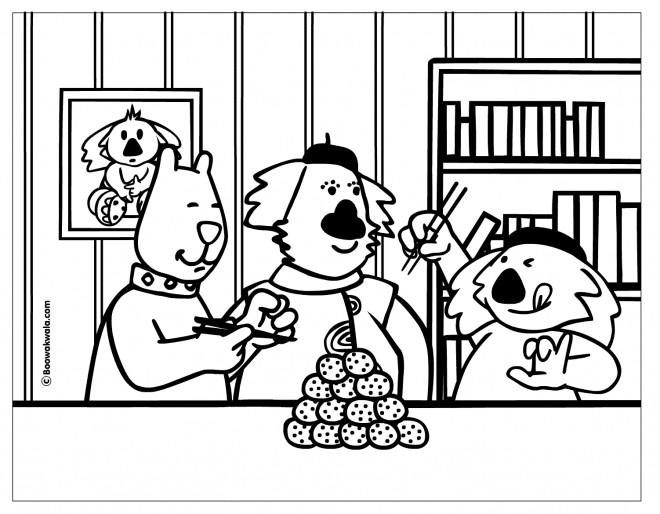 Coloriage et dessins gratuits Repas Dessin animé à imprimer
