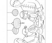 Coloriage et dessins gratuit Repas Du Nouvel An Chinois à imprimer