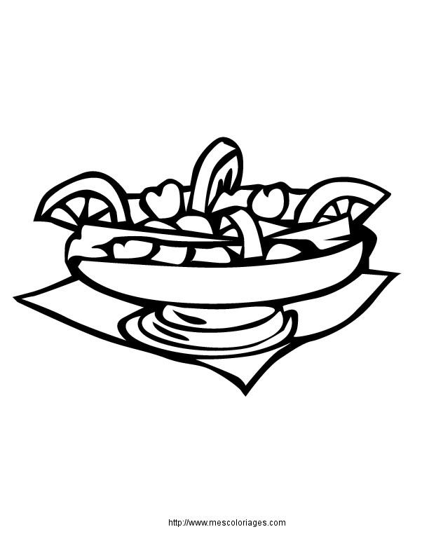 Coloriage et dessins gratuits Repas en couleur à imprimer