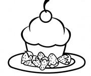 Coloriage et dessins gratuit Repas Petit Gâteau à imprimer