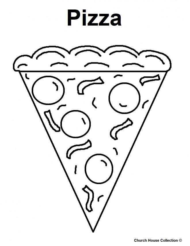 Coloriage et dessins gratuits Repas Pizza à imprimer
