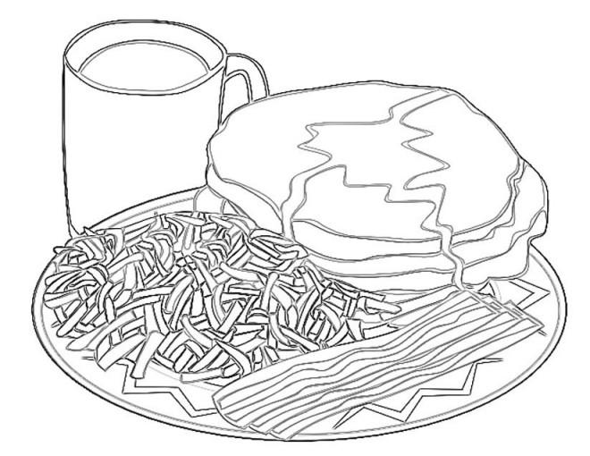 Coloriage et dessins gratuits Repas pour adulte à imprimer