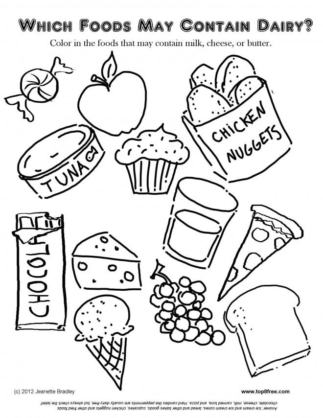 Coloriage et dessins gratuits Repas pour Les Petits à imprimer