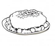 Coloriage et dessins gratuit Repas riche en Vitamines à imprimer